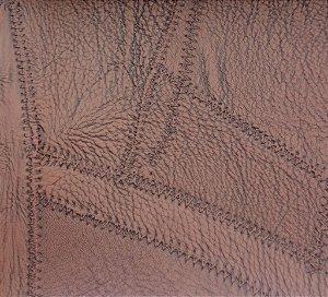 Tecido courvin costurado Marrom Claro - 09