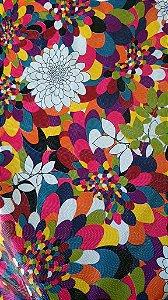 Tecido corino Flores Texturizado  - 1,40 metros de largura