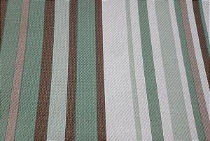 Tecido Corano Texturizado Listrado Branco Cinza Verde Marrom Londres 07