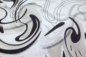Tecido Corano Texturizado Mesclado Branco Bege Claro Preto Londres 12