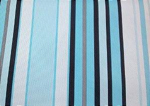 Tecido Corano Texturizado Listrado Branco Cinza Azul Piscina Preto Londres 13
