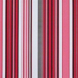 Tecido Corano Texturizado Listrado Branco Pink Cinza Preto Londres 19