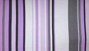 Tecido Corano Texturizado Listrado Branco Lilas Cinza Preto Londres 24