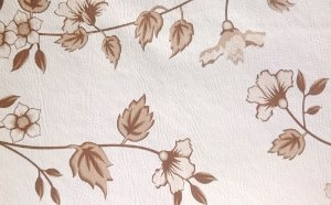 Tecido Corano Texturizado Floral Creme e Marrom Londres 39