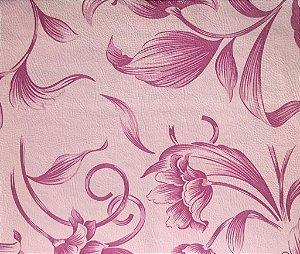 Tecido Corano Liso Hibisco Rose e Rosa antigo Londres 47
