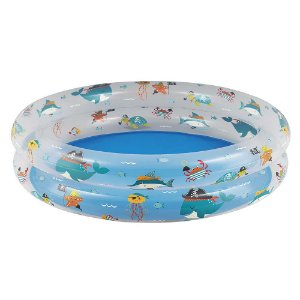 Piscina Banheira Para Criança Fundo Do Mar 90x20cm 90l