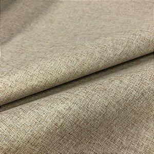 Tecido Blecaute Linho Rustico Bege II Veda 100% Linen Look 2,80 de largura - 1Metro