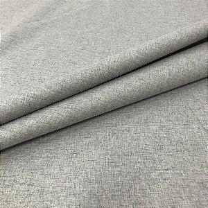 Tecido Blecaute Linho Rustico Cinza Veda 100% Linen Look 2,80 de largura - 1Metro