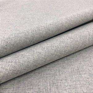 Tecido Blecaute Linho Rustico Prata Veda 100% Linen Look 2,80 de largura - 1Metro