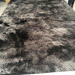 Tapete Estilo Shaggy ToroConfort Antiderrapante Preto Mesclado 1,50 x 2,00m