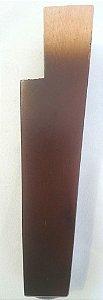 Pé para sofá de madeira Marrom reto para Sofás, Estofados, Puffs - 15 cm - MA-86