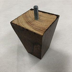 Pé Trapézio Madeira Pinus Imbuia Para Móveis,  9cm de Altura  - 1 Pé