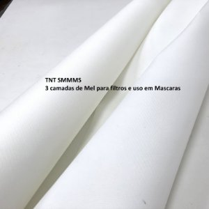Tnt Smmms Branco 26grs 17,5 cm de Largura, Hospitalar N95 para Máscara -5 Metros