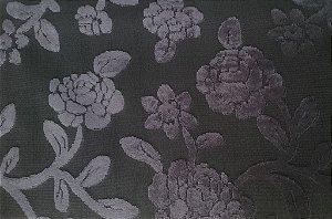 Tecido veludo Gold Floral Roxo 04