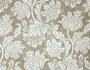 Tecido algodão impermeabilizado Flora Creme e Marrom Sev 13