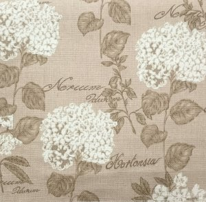 Tecido algodão impermeabilizado Floral Areia Linhão Sev 22