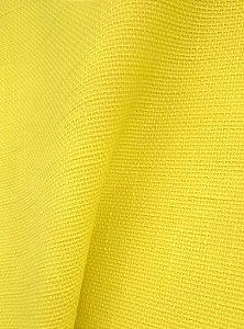 Tecido algodão impermeabilizado Liso Linhão Amarelo Gema Sev 46
