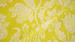 Tecido algodão impermeabilizado Linhão Floral Amarelo e Creme Sev 48