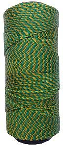 Fio Cordone Encerado Nº 4 - Verde e Amarelo trançado