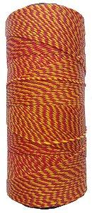 Fio Cordone Encerado Nº 4 - Vermelho e Amarelo trançado
