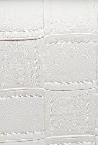 Tecido courvin estilo costurado Branco - Jade01
