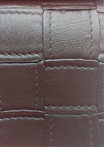 Tecido courvin estilo costurado Marrom - Jade04