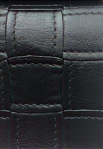 Tecido courvin estilo costurado Preto - Jade05