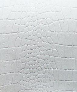 Tecido courvin Croco Branco - Croco 01