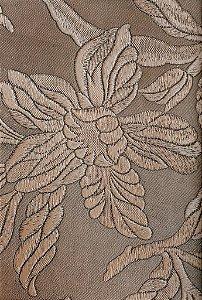 Tecido courvin Floral Marrom Claro - Vivace 04