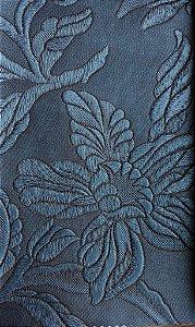 Tecido courvin Floral Azul Petroleo com leve brilho - Vivace 06