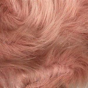 Tecido Pelúcia Pelo Médio Macio 33mm 1,00x1,50 Rosé
