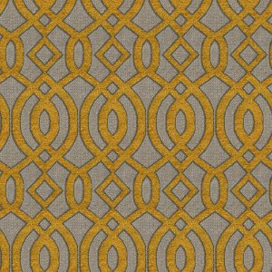 Tecido para Sofá e Estofado Chenille Viscose Mandala Mostarda - Largura 1,37m - COL 05