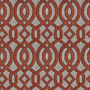 Tecido para Sofá e Estofado Chenille Viscose Mandala Coral Brick - Largura 1,37m - COL-30