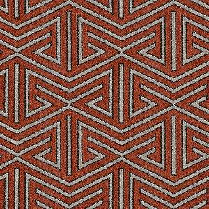 Tecido para Sofá e Estofado Chenille Viscose Triângulo Coral Brick - Largura 1,37m - COL-31