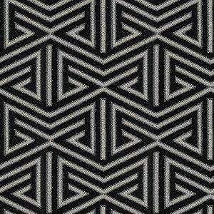 Tecido para Sofá e Estofado  Chenille Viscose Triângulo Preto - Largura 1,37m - COL-47