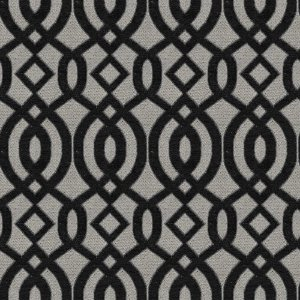 Tecido para Sofá e Estofado Chenille Viscose Mandala Preto - Largura 1,37m - COL-48