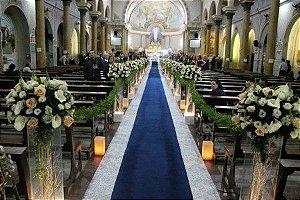 Passadeira Tapete Marinho Para Casamento, Festas 15 Metros de comprimento