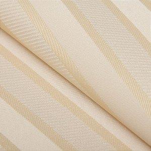 Papel de parede Listrado Tons de Creme e Dourado - Classici A91507