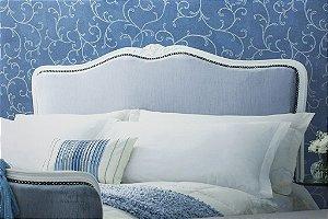 Papel de parede Ramos em Azul turquesa com Gliter - Classici A91812