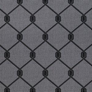 Tecido para Sofá Jacquard Geométrico Cinza - Largura 1,40m - PIS-02