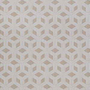 Tecido para Sofá Jacquard Geométrico Bege - Largura 1,40m - PIS-07