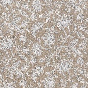 Tecido para Sofá Jacquard Floral Bege Cru - Largura 1,40m - PIS-11