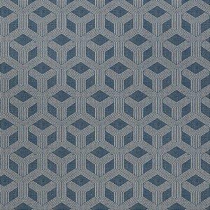 Tecido para Sofá Jacquard Geométrico Azul - Largura 1,40m - PIS-25