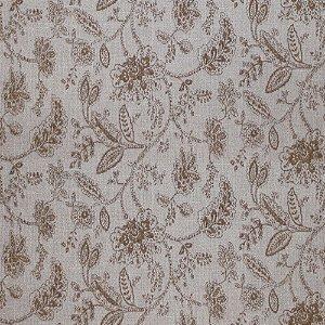 Tecido para Sofá Jacquard Floral Marrom - Largura 1,40m - PIS-30