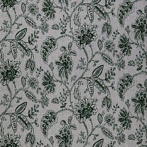 Tecido para Sofá Jacquard Floral Verde - Largura 1,40m - PIS-33