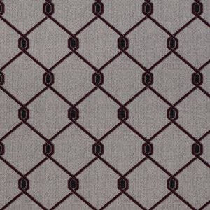 Tecido para Sofá Jacquard Geométrico Vermelho - Largura 1,40m - PIS-42