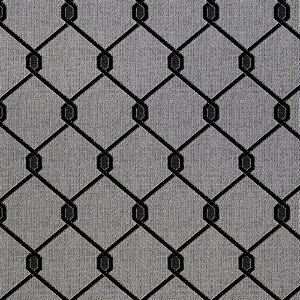 Tecido para Sofá Jacquard Geométrico Preto - Largura 1,40m - PIS-47