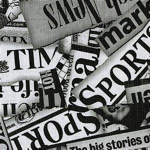 Tecido Corino Estilo Jornal texturizado