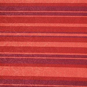 Tecido Jacard Impermeabilizado Listrado tons de vermelho e roxo  - Coral 9