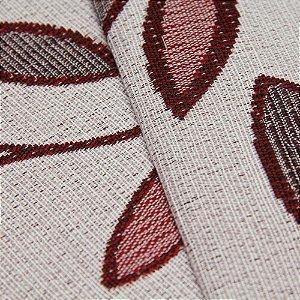 Tecido Estilo Linho Floral Vermelho com fundo cinza Claro - Safira 12